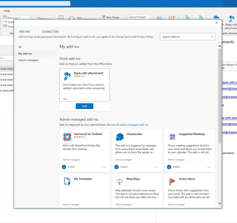 Outlook Add-in succesfully removed in Outlook 2016